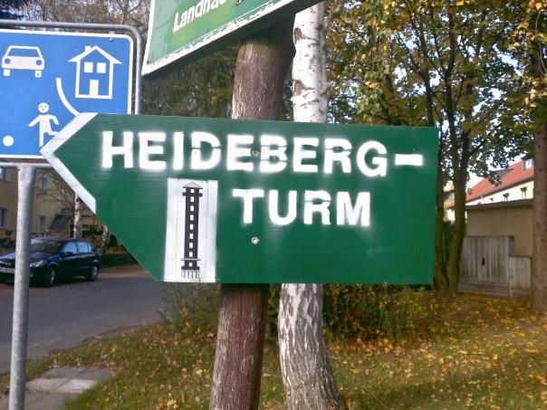 Wegweiser Heidebergturm