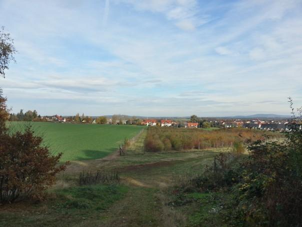 Blick über Weixdorf zum Keulenberg vom Hohenbusch
