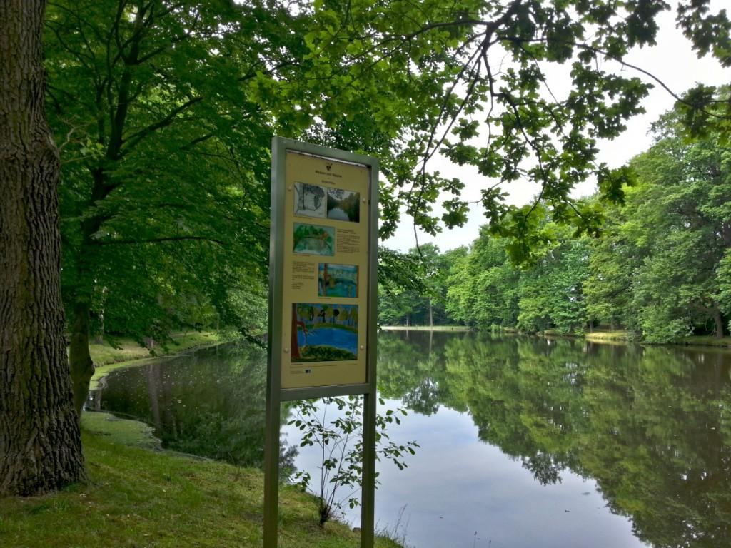Naturpark Naunhof - Eine der zahlreichen Tafeln