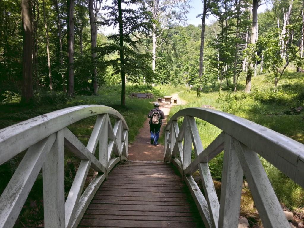 Schöne Brücke über der Großen Röder
