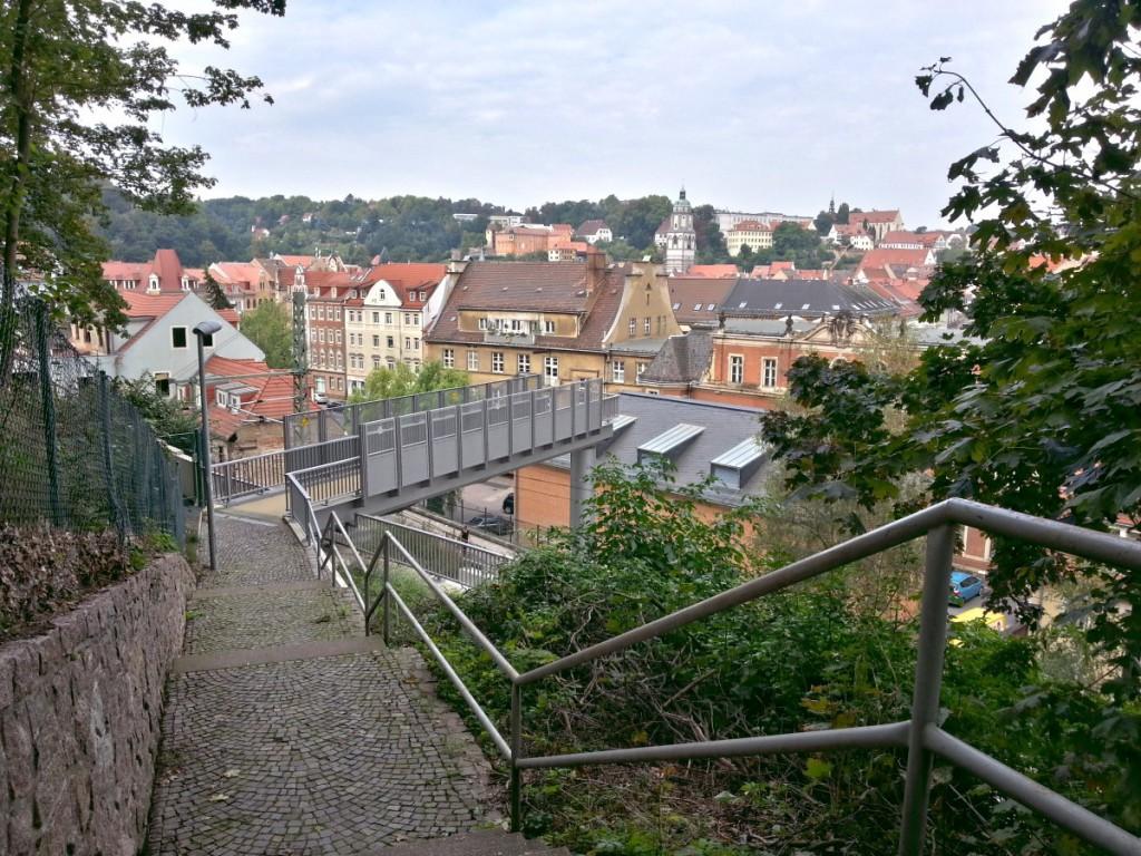 Poetenweg an der Eisenbahnbrücke