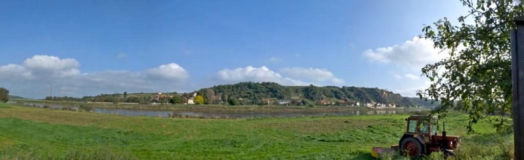 Blick vom Tierpark Hebelei nach Diesbar-Seußlitz