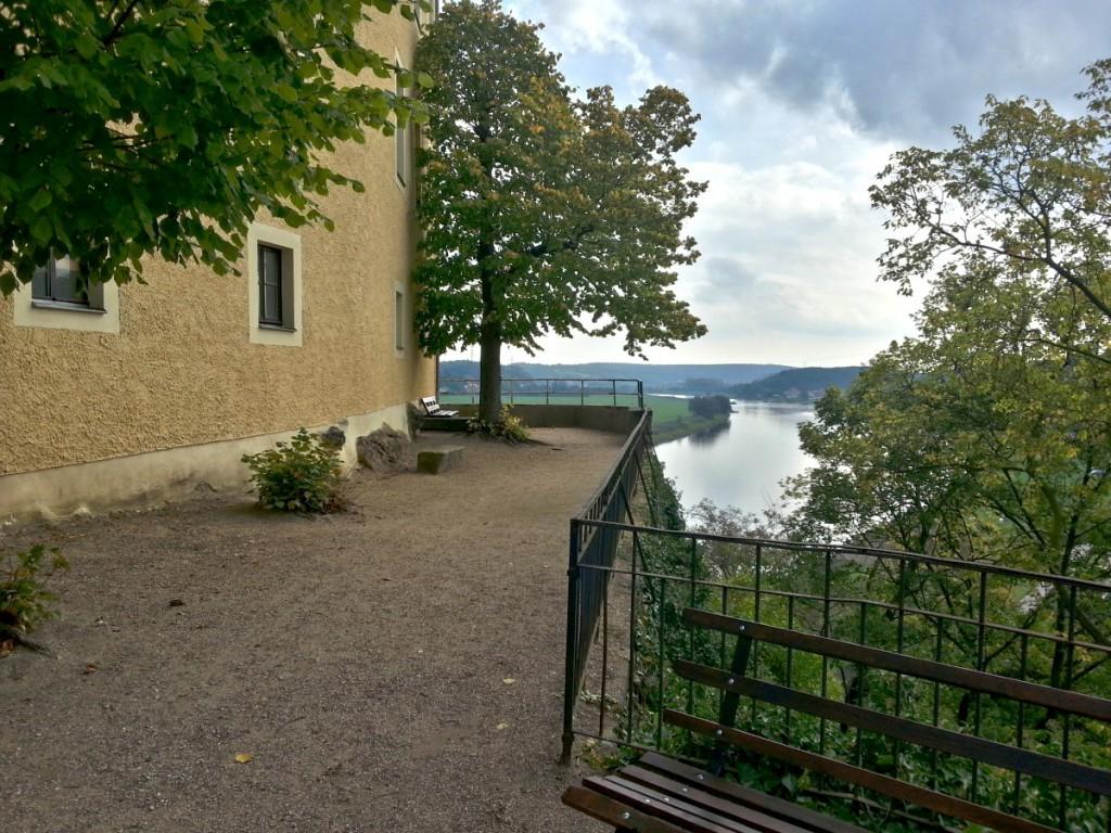 Aussichtspunkt am Schloss Hirschstein