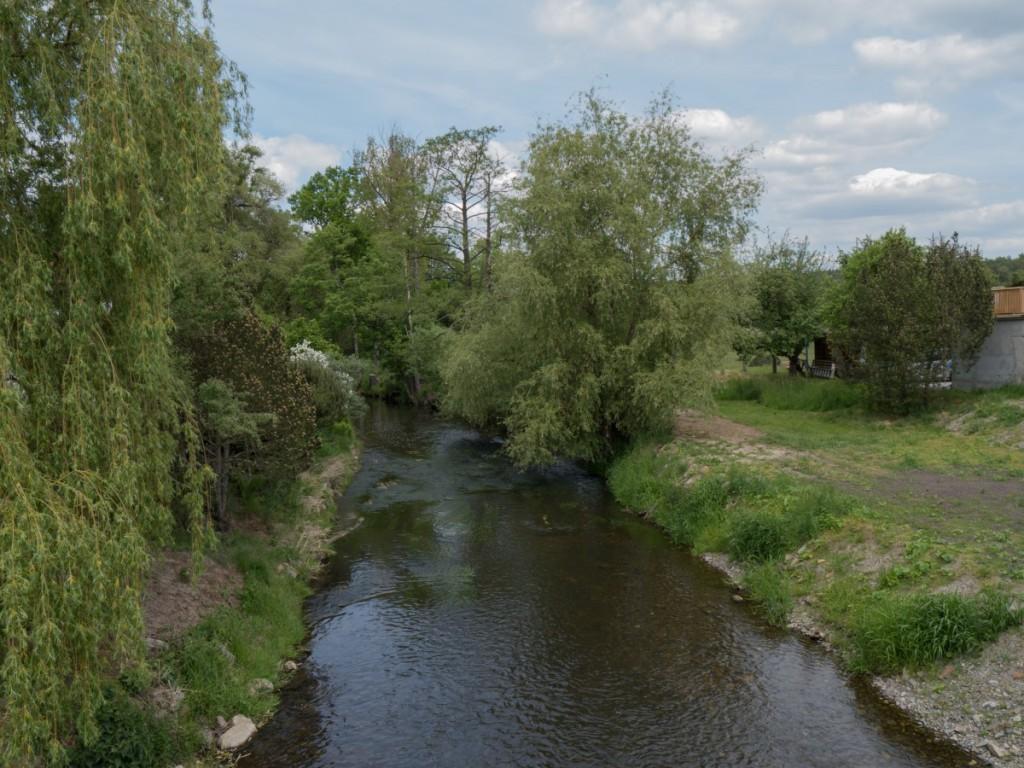 Blick von der Heidebrücke in Großdittmannsdorf