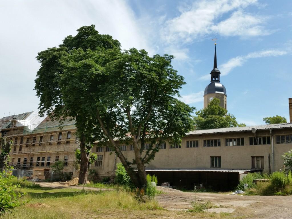 Schloss und Kirche in Weistropp