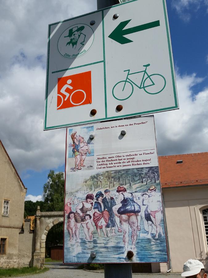 Der Zille-Radweg führt hier entlang.
