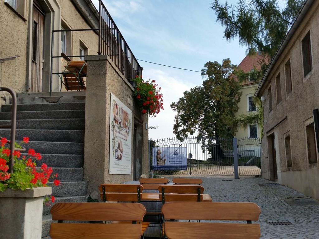 """Den Schlossplatz und die """"Aussicht Pilz"""" konnten wir aufgrund von Baumaßnahmen leider nicht erreichen."""