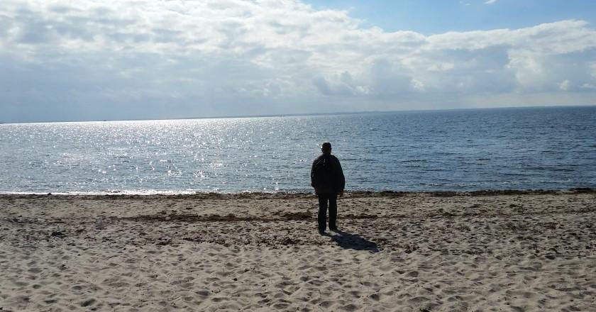 Am Strand im Ostseebad Thiessow