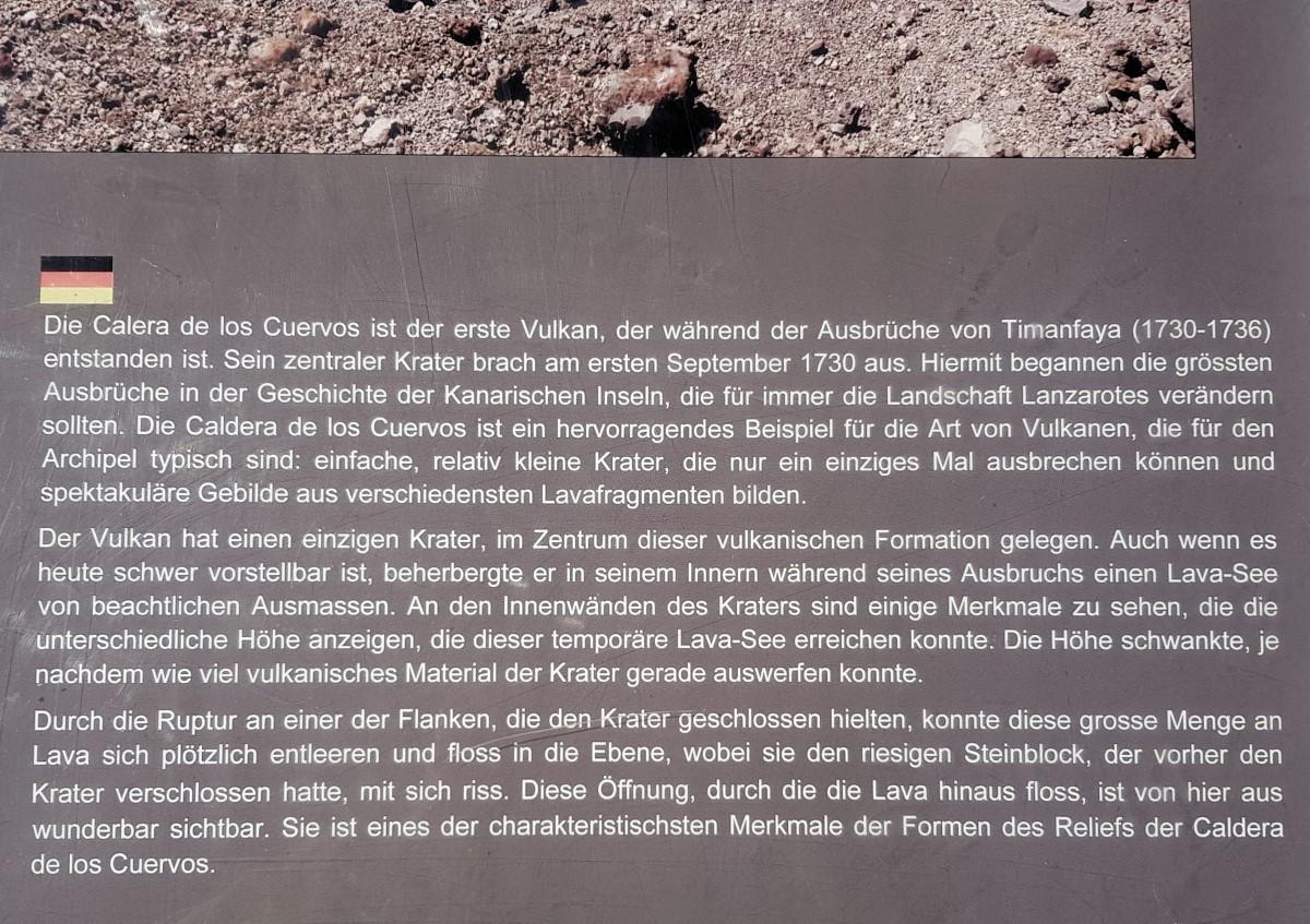 Info zur Caldera de los Cuervos