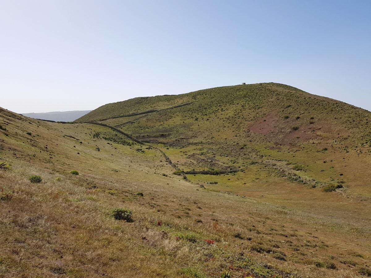 Blick zurück zum Krater La Quemada