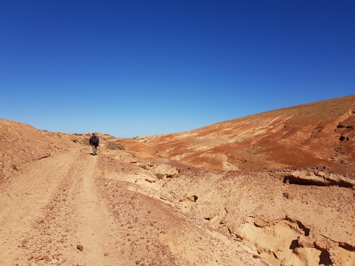 Auf dem Wegstück zwischen dem Vulkan Sóo und der Montaña Juan del Hierro