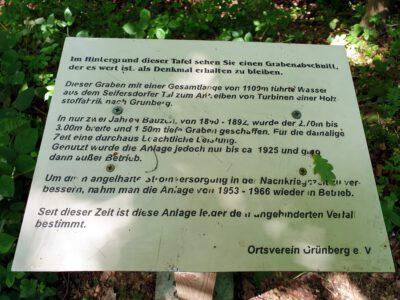 Info zum Künstlichen Graben