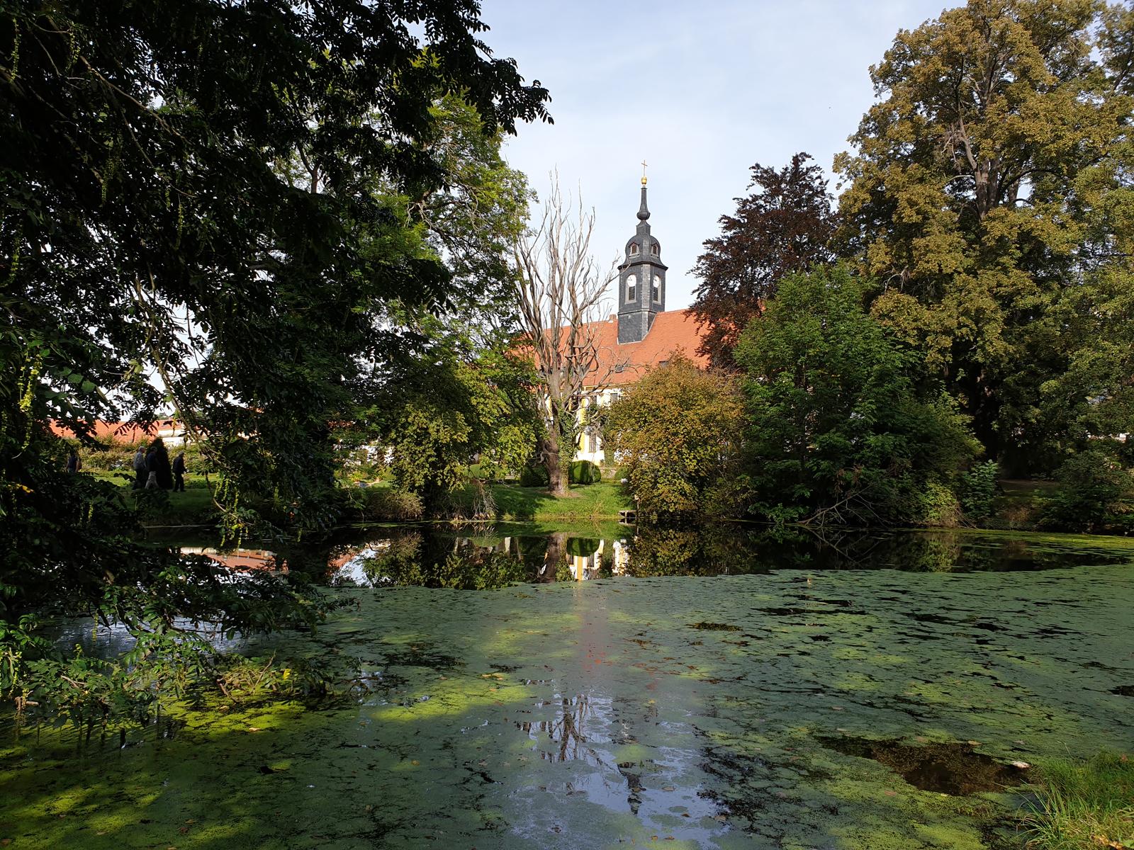 Blick zum Schloss Seußlitz