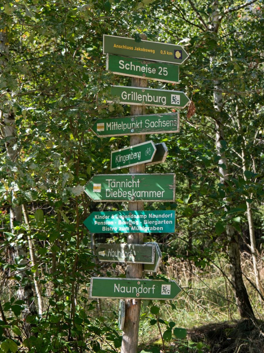 Auf dem Rückweg - viele Wege führen zum Mittelpunkt Sachsens