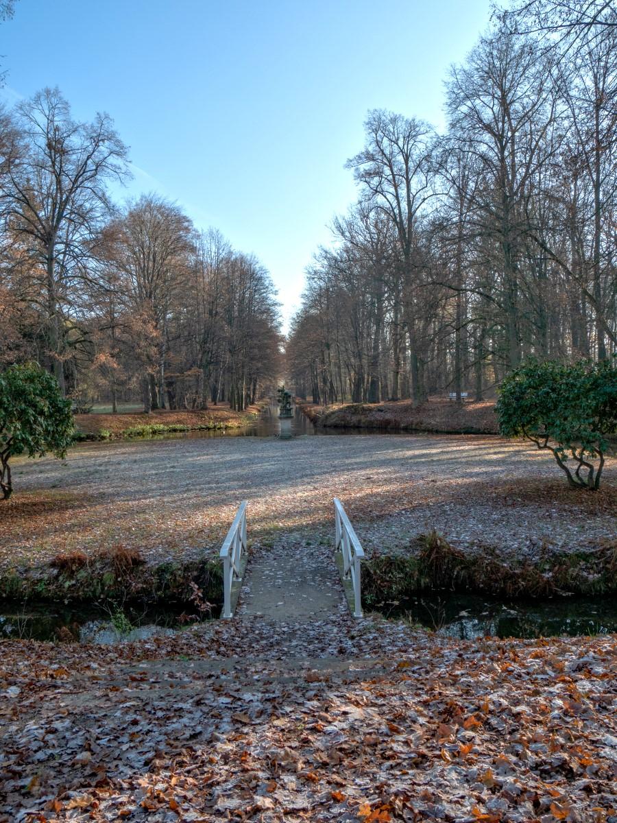 Frostiger Blick in den Park