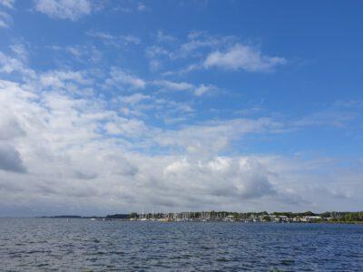 Blick zum Jachthafen