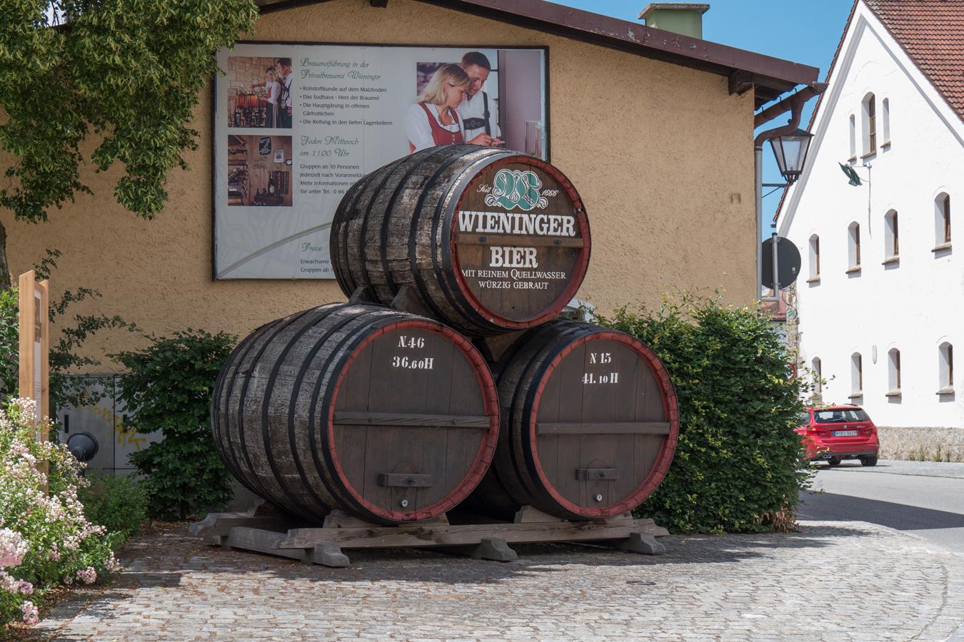 """An der Station 1 """"Brauerei Wieninger"""" angekommen"""