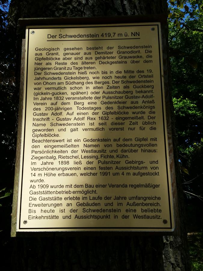 Informationen zum Schwedenstein