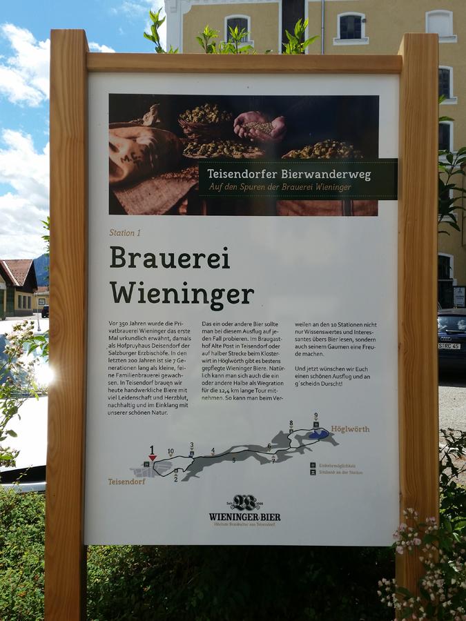 Informationstafel zur Brauerei Wieninger