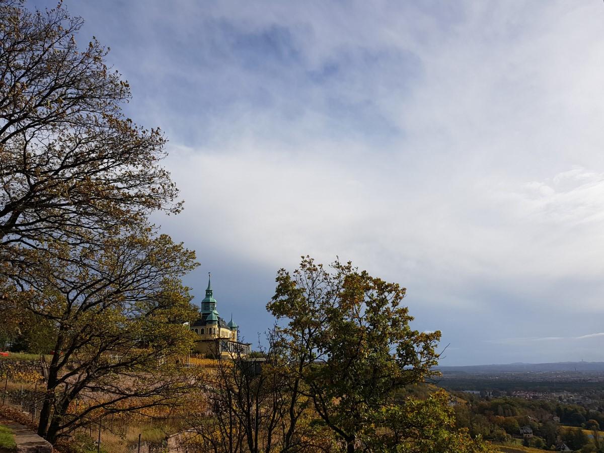 Das Spitzhaus vom Bismarckturm aus gesehen