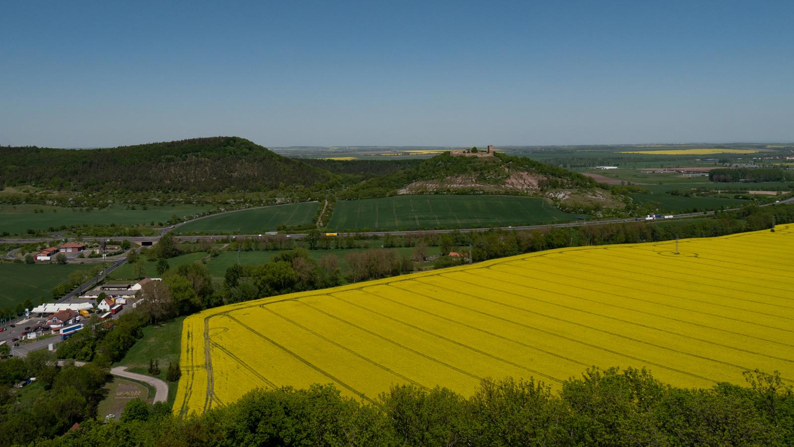 Und noch ein Blick vom Turm der Mühlburg - zum Kaffberg und zur Burg Gleichen