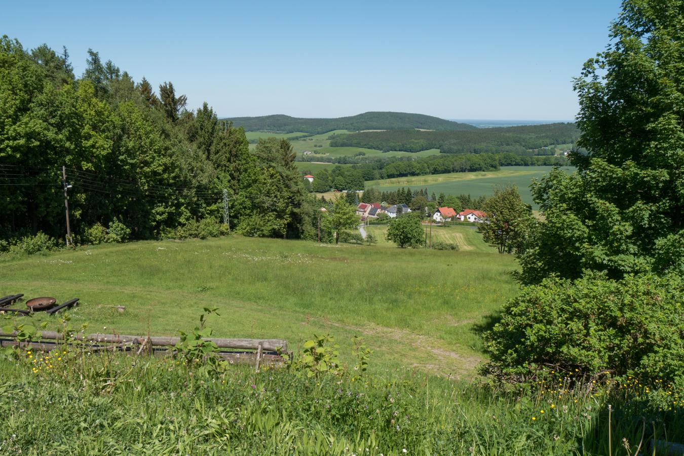 Blick vom Schwedenstein auf Steina