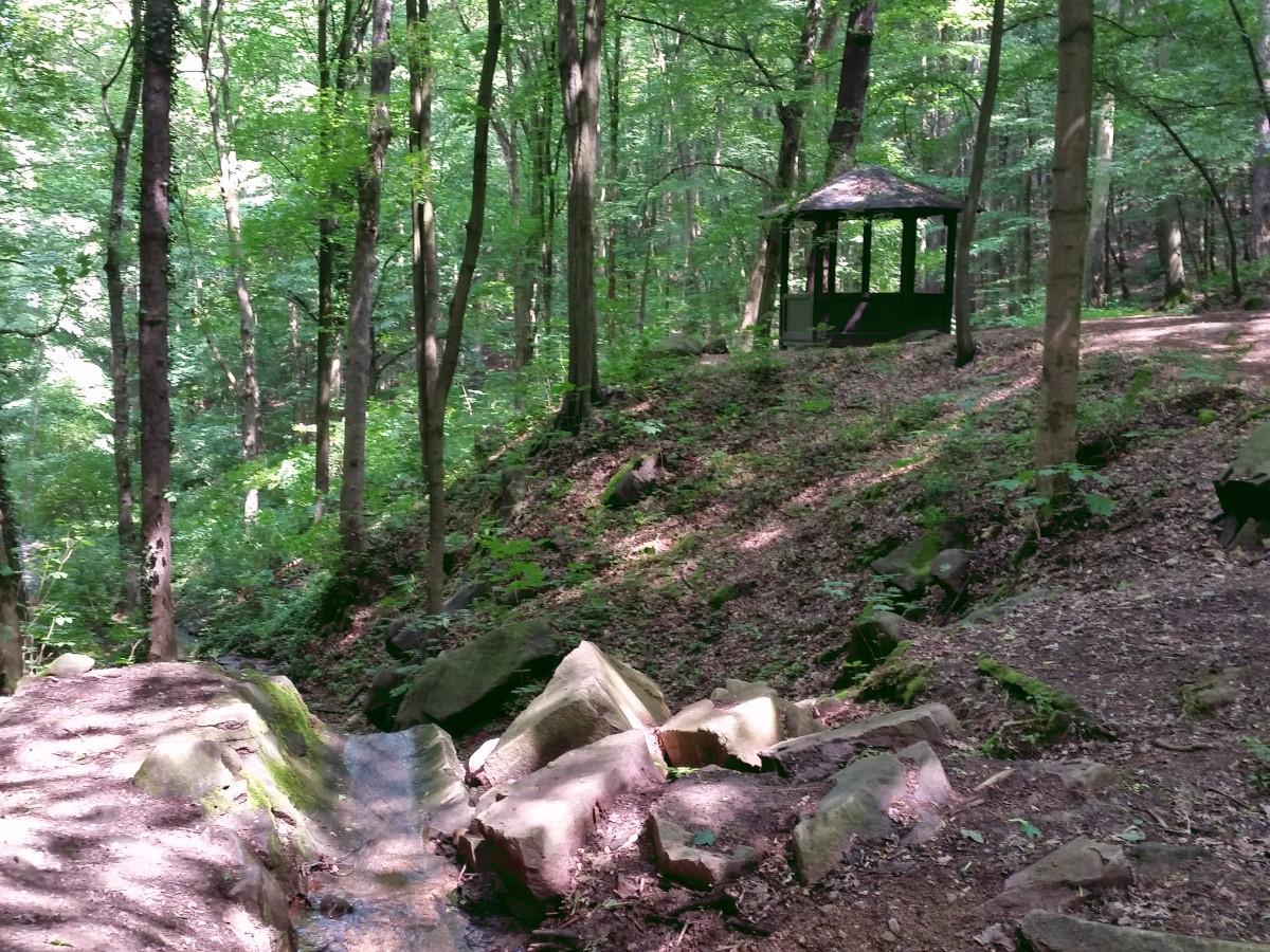 Schutzhütte an der Bockwener Delle