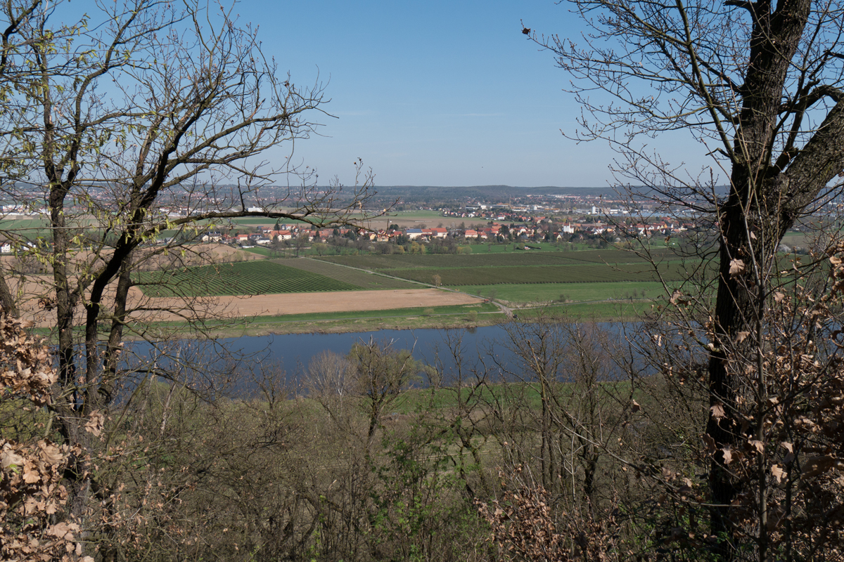 Blick auf Brockwitz, Ortsteil von Coswig