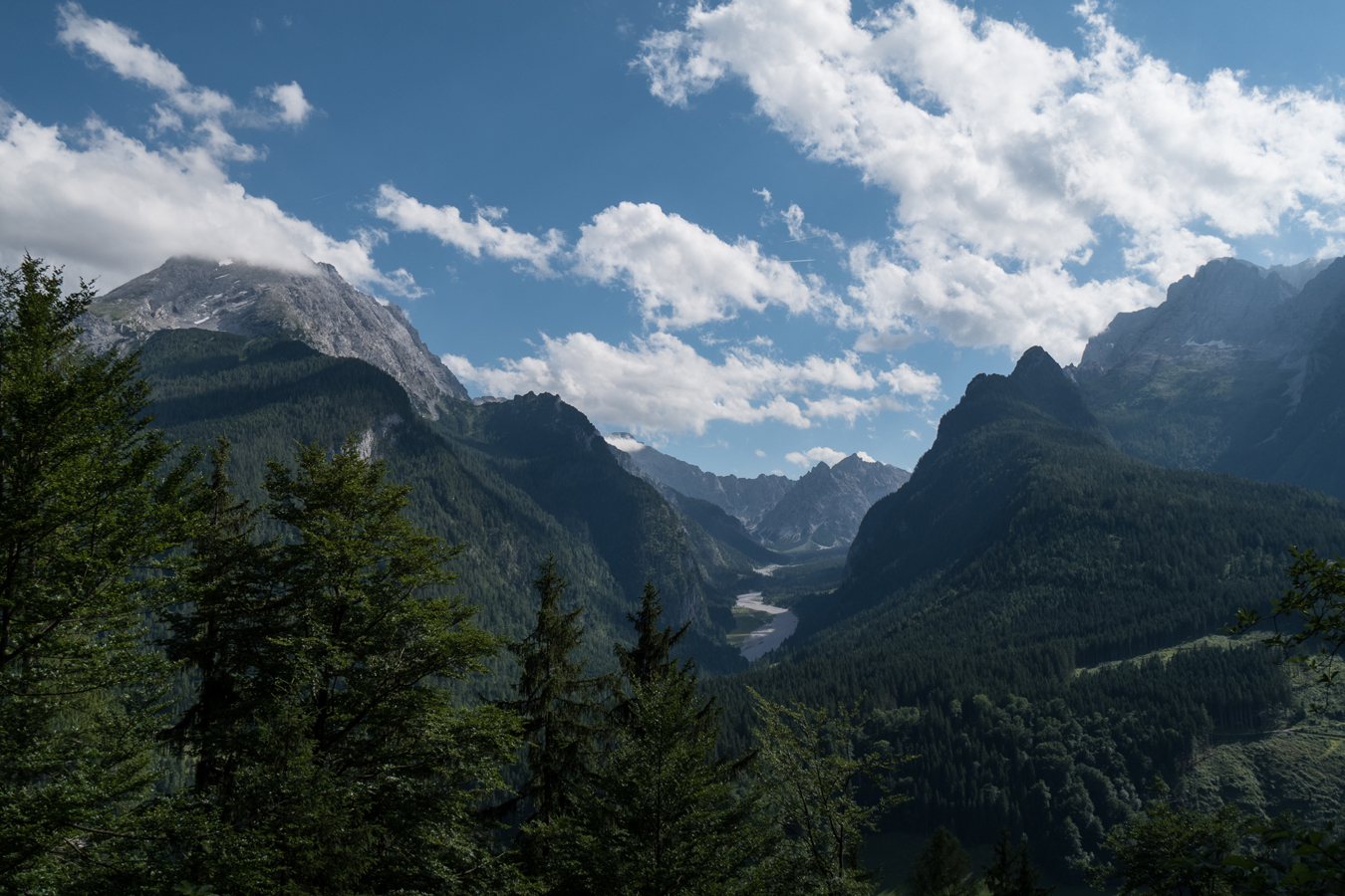 Blick vom Soleleitungsweg ins Wimbachtal