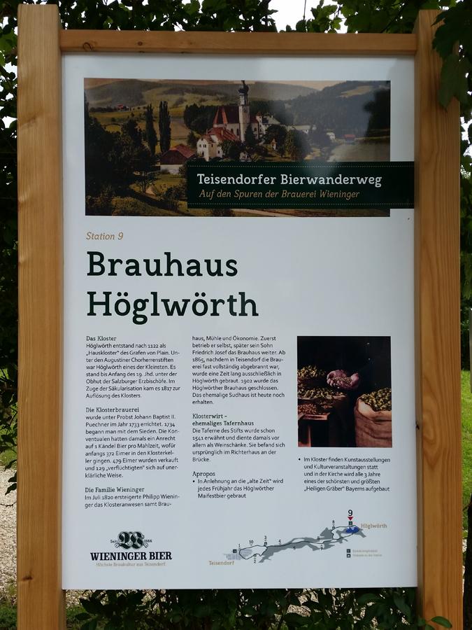 "Information zur Station ""Brauhaus Höglwörth"""