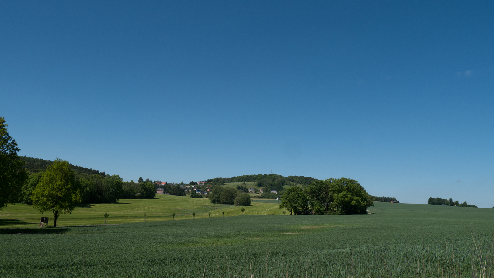 Blick von der Finke Richtung Gickelsberg und Schwedenstein