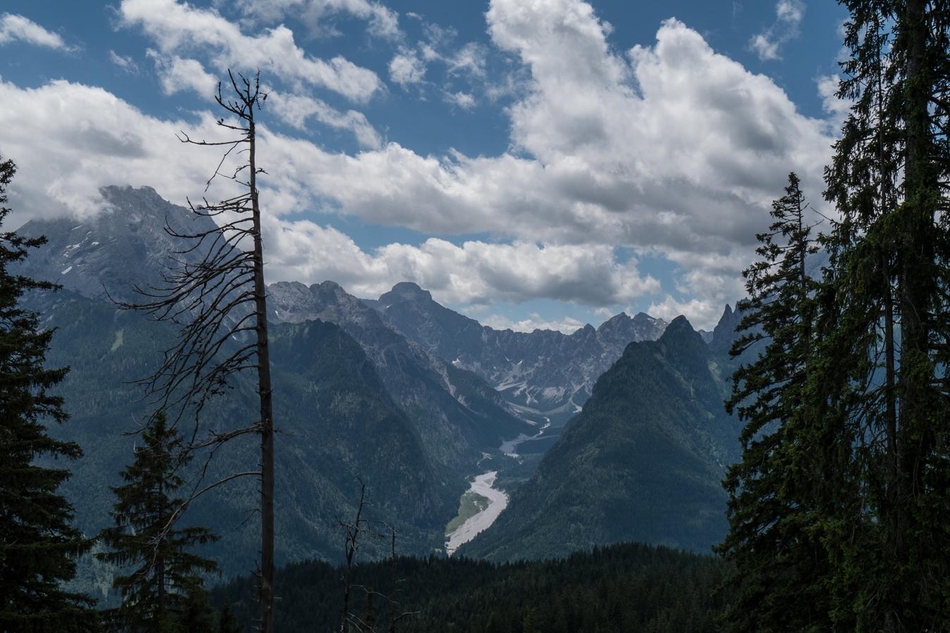 Ein Blick ins Wimbachgries vom Höhenzug des Toten Manns