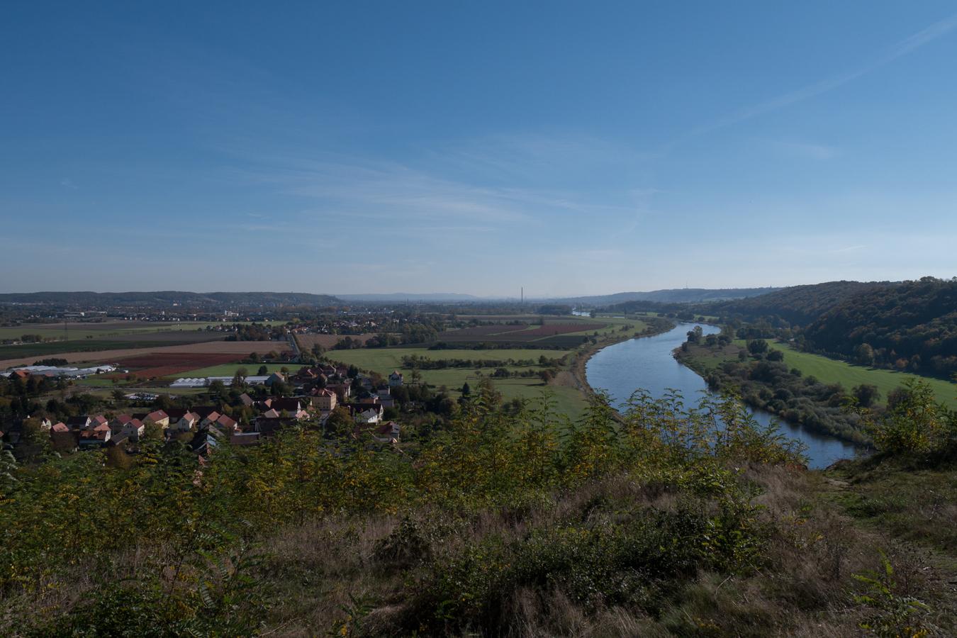 Blick von der Boselspitze über die Elbe Richtung Dresden