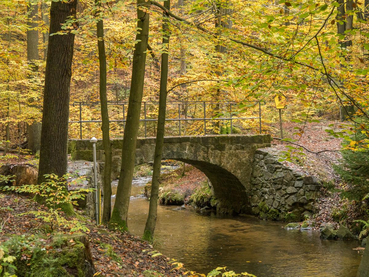 Steinbogenbrücke über der Prießnitz
