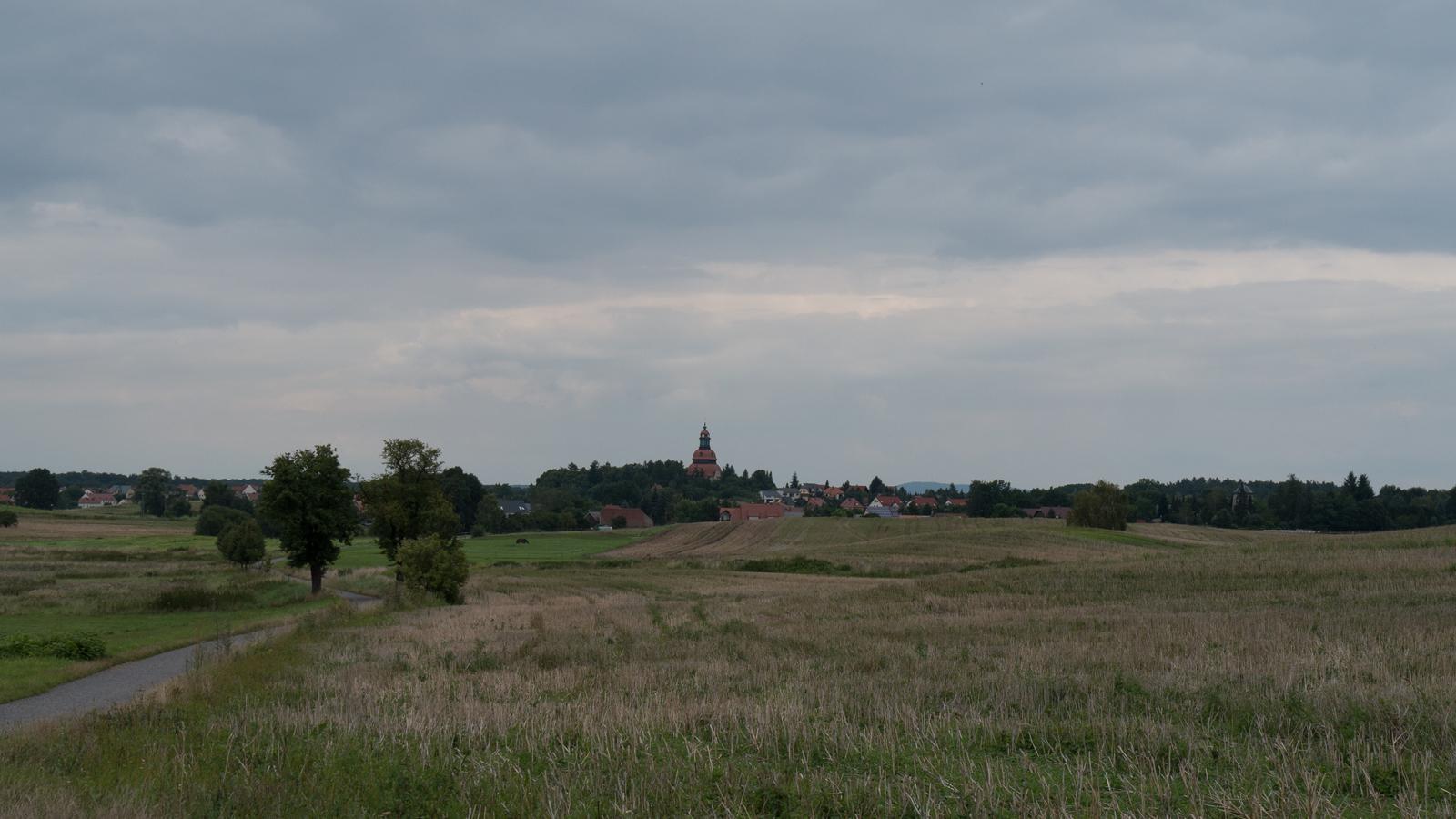 Blick nach Moritzburg vom Nordufer des Dippelsdorfer Teiches