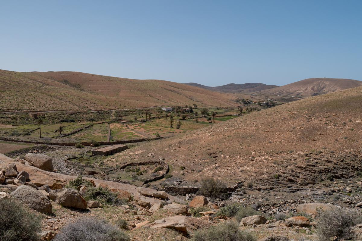 Blick über den Barranco de Mal Paso