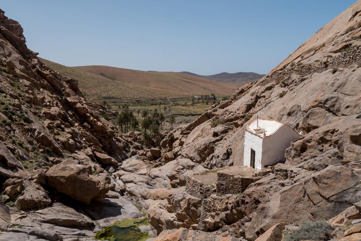 Ein Blick zurück zur Ermita de la Peña