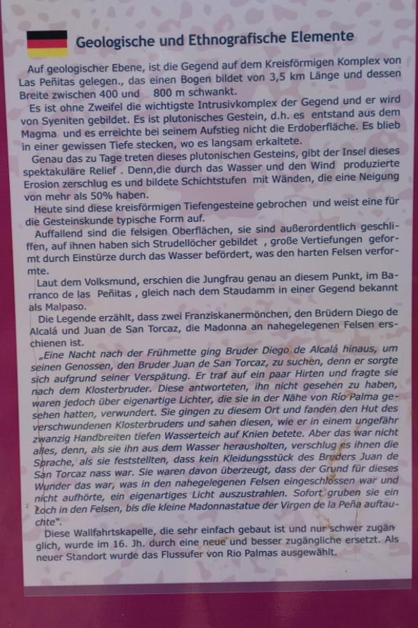 Informationen zum Stausee und zur Kapelle