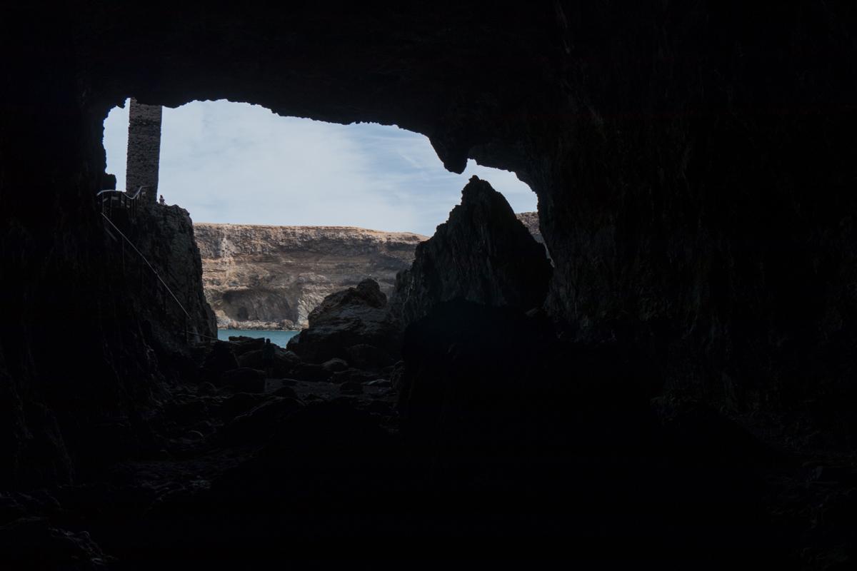 Ein Blick zur Abstiegs-/Aufstiegstreppe
