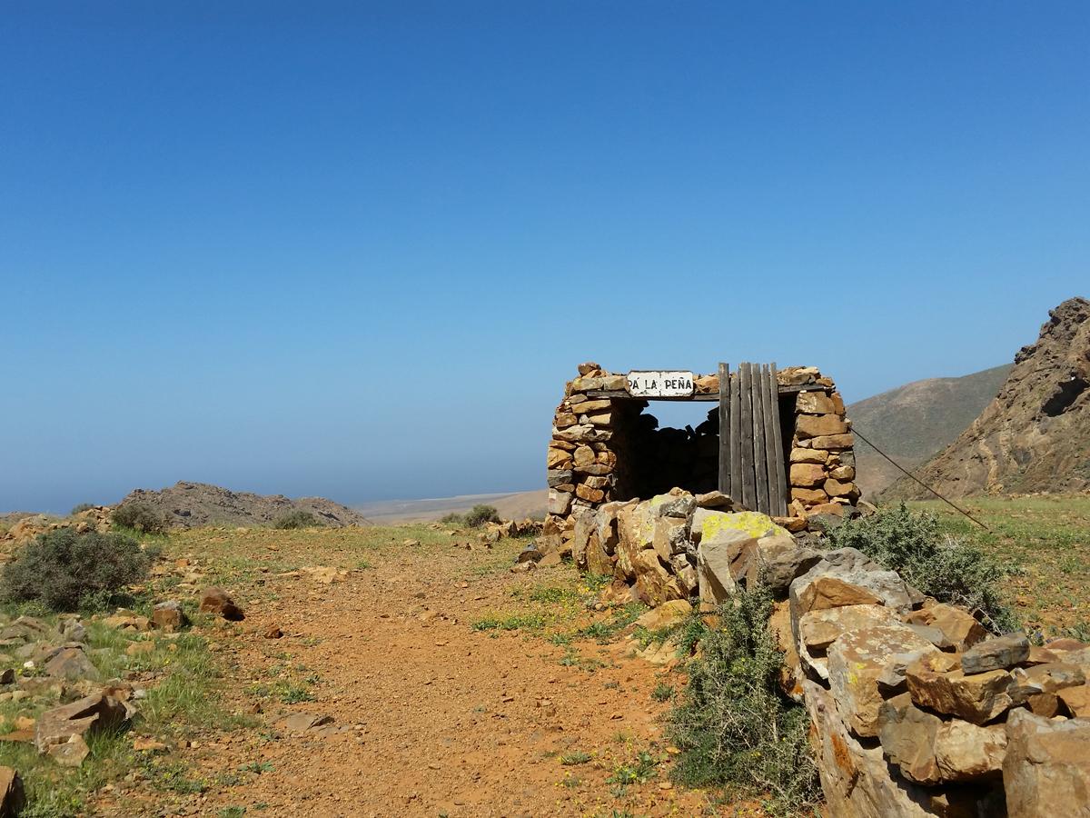 Hütte an der Degollada de los Granadillos