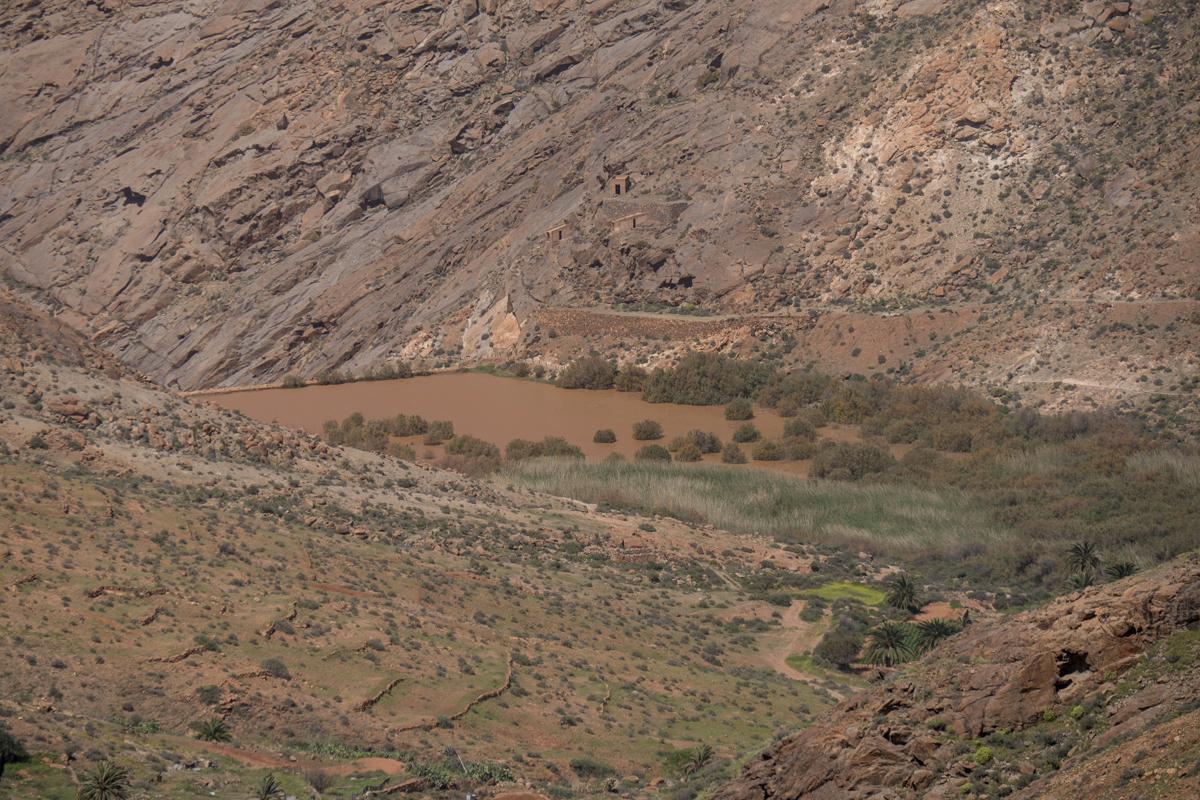 Blick auf den Embalse de las Peñitas