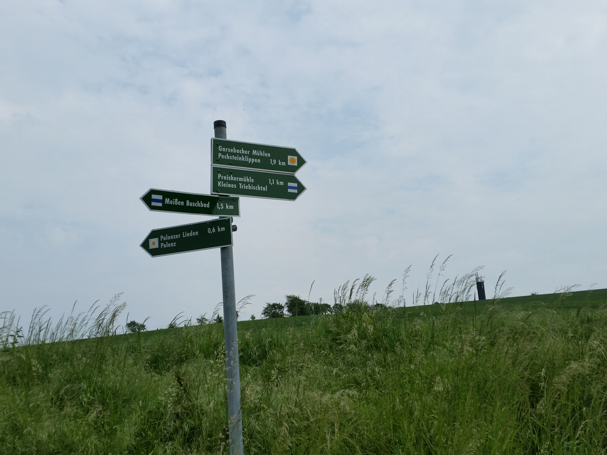 Ortsbestimmung - westlich der Polenzer Linden