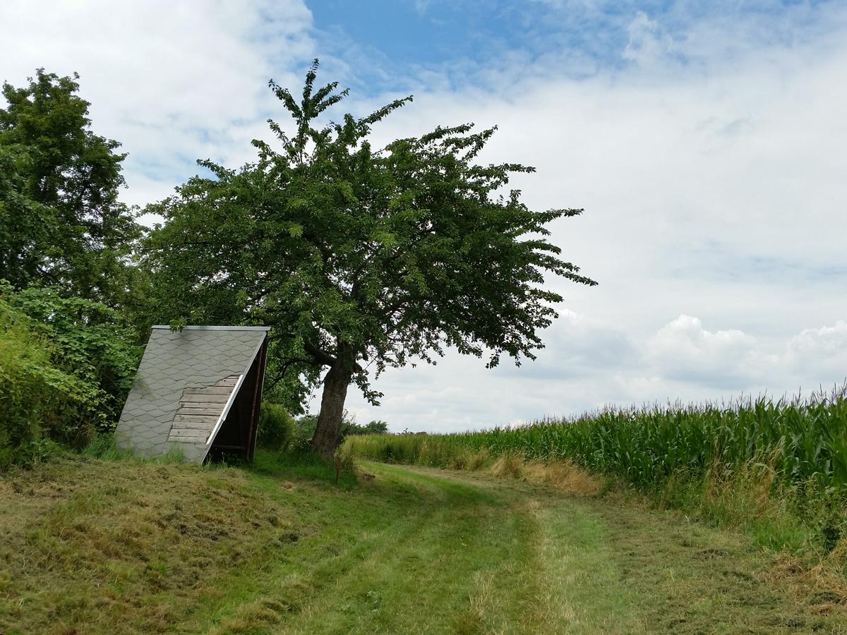 Eine Schutzhütte