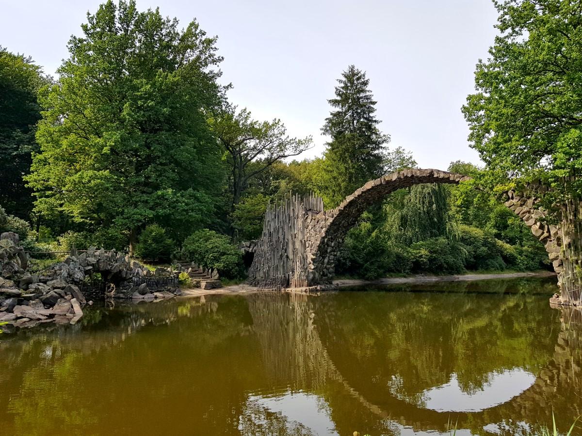 An der Rakotzbrücke im Kromlauer Park
