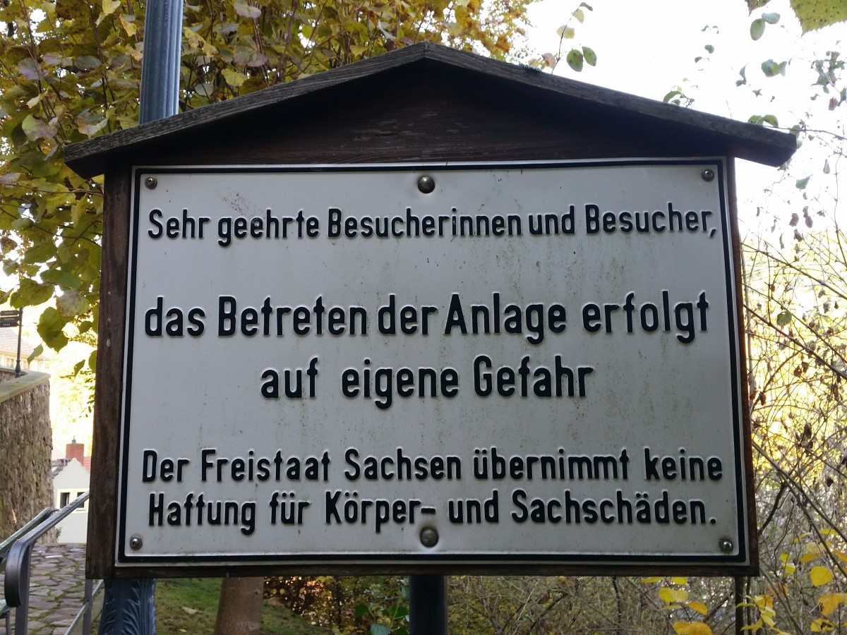 Am Schloss Weesenstein