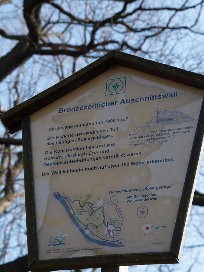 Eine der Infotafeln am Weinwanderweg ...