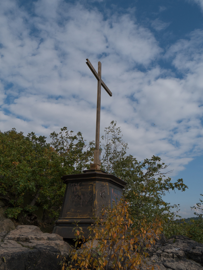 Gipfelkreuz auf dem Götterfelsen