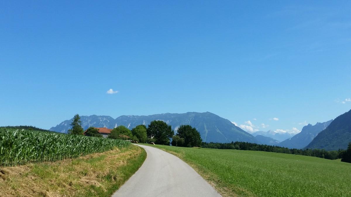 Ein Blick zurück zum Untersberg