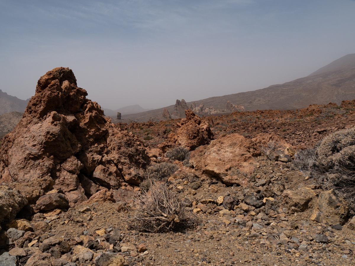 Ein Blick zu den Roques de García von der Pista de Siete Cañadas