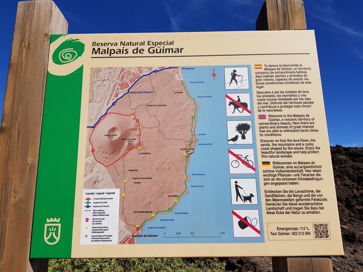 Übersicht zum Malpaís de Güímar